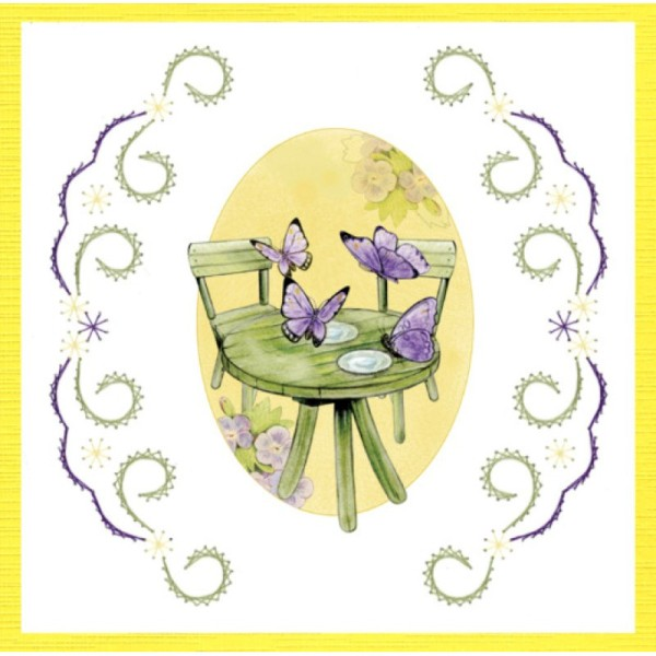 Stitch and do 157 - kit Carte 3D broderie - Les papillons - Photo n°4