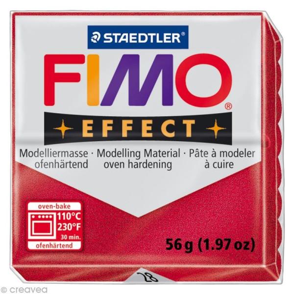 Pâte Fimo Effect Rouge Rubis Métallique 28 - 56 gr - Photo n°1