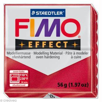 Fimo Effect Rouge Rubis Métallique 28 - 56 gr