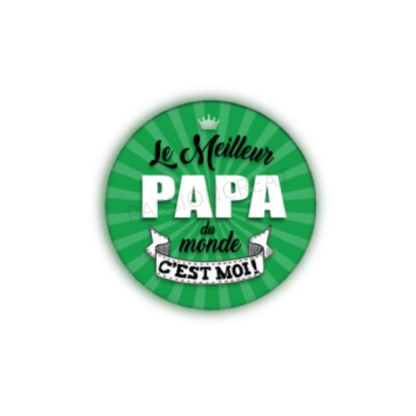 Le Meilleur Papa Du Monde C'est Moi 2 Cabochons - Photo n°1