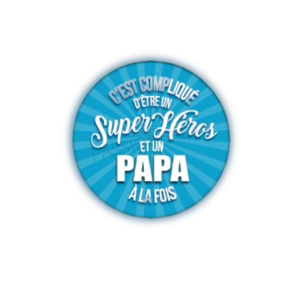 C'Est Compliqué D'Être Un Super Héros Et Un Papa À La Fois 2 Cabochons - Photo n°1