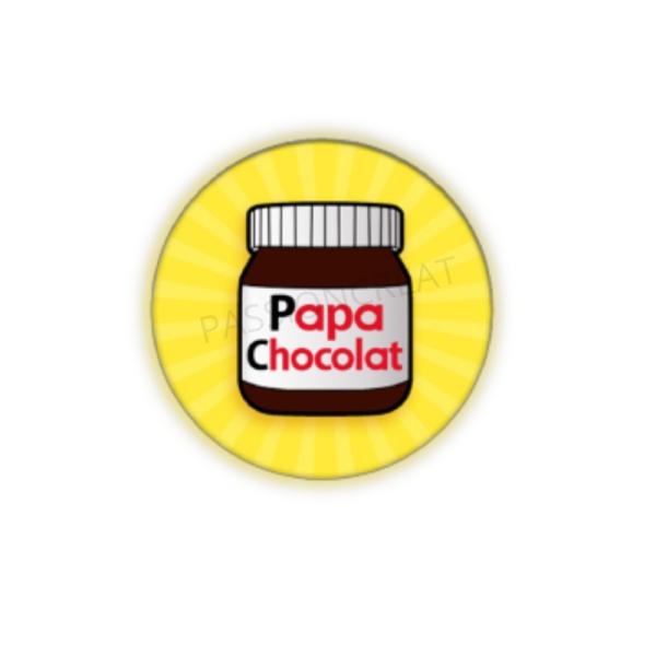 Papa Chocolat 2 Cabochons - Photo n°1