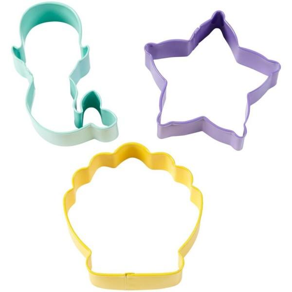 Emportes pièces métal coquillage - étoile de mer - sirène - Photo n°1