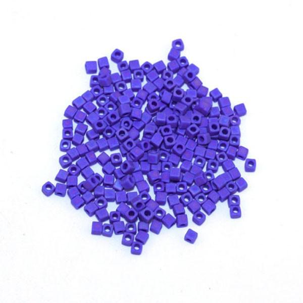 10g Miyuki Cube 1,8mm mat opaque cobalt AB SB18-414FR - Photo n°1