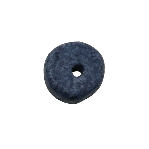 Rondelle céramique 6,5x2,2 mm trou 1,2 mm bleu foncé mat x10 - Photo n°1