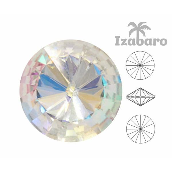6 pièces Izabaro Cristal Cristal Arc en Ciel 001rb Rond Rivoli Verre Cristaux 1122 Izabaro Pierre Ch - Photo n°2