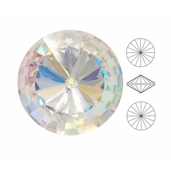 6 pièces Izabaro Cristal Cristal Arc en Ciel 001rb Rond Rivoli Verre Cristaux 1122 Izabaro Pierre Ch - Photo n°1