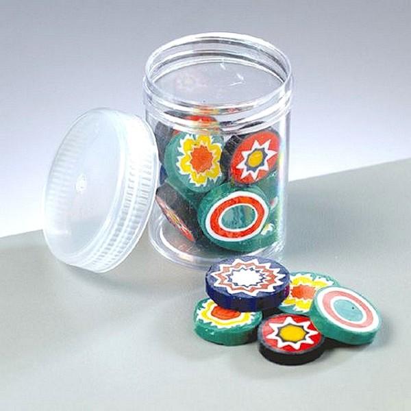 Millefiori, émaux milles fleurs, 5 à 15 mm, mélange de couleurs , flacon de 40 g - Photo n°1