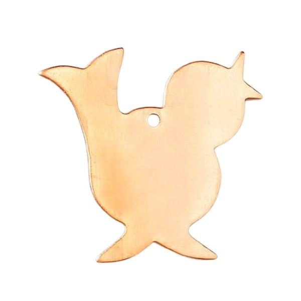 Lot de 10 Pendentifs en cuivre Oiseau, 1 trou, 30 x 32 mm, ébauche pour émaillage - Photo n°1