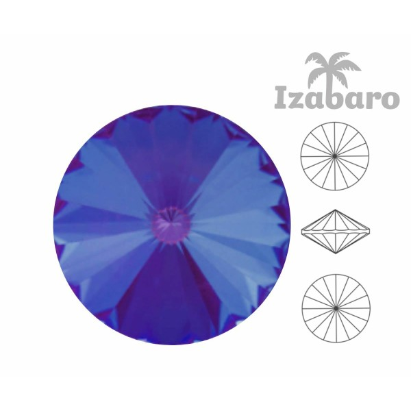 4 pièces Izabaro Cristal Bourgogne Rouge Pastel 132pas Rond Rivoli Verre Cristaux 1122 Izabaro Pierr - Photo n°2