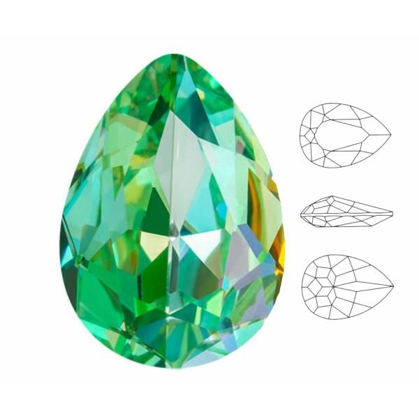 4 pièces Izabaro Cristal Péridot Vert Arc en Ciel 214rb Poire Larme Fantaisie Pierre Verre Cristaux - Photo n°1