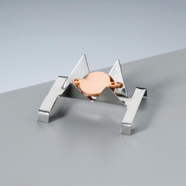 Petit Support contre-émail, pour pièce de 3 à 10 mm, pour émaillage jusqu'à 1 200°C - Photo n°2