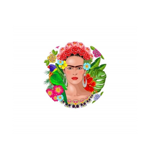 2 Cabochons Verre 20 mm, Cabochon Rond, Frida Kalho Mexique 1 - Photo n°1