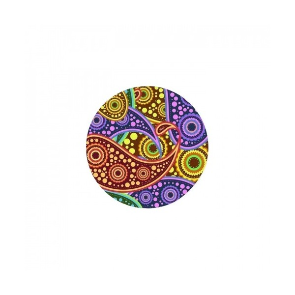 2 Cabochons Verre 14 mm, Cabochon Rond, Paisley Hindou 11 - Photo n°1