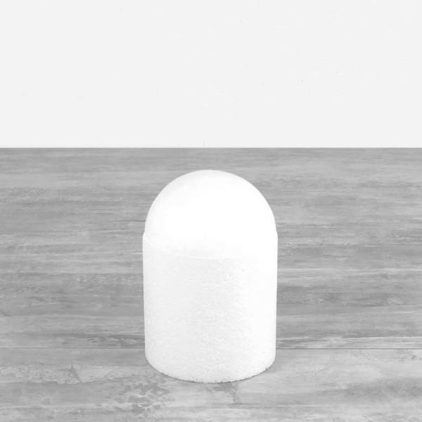 Dôme en polystyrène, base Ø 10 cm, hauteur 15cm, Cage à oiseaux en Styropor blanc densité Pro - Photo n°1