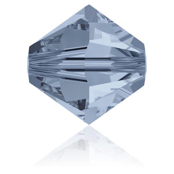 Toupie 3 mm Swarovski denim blue x10 - Photo n°1