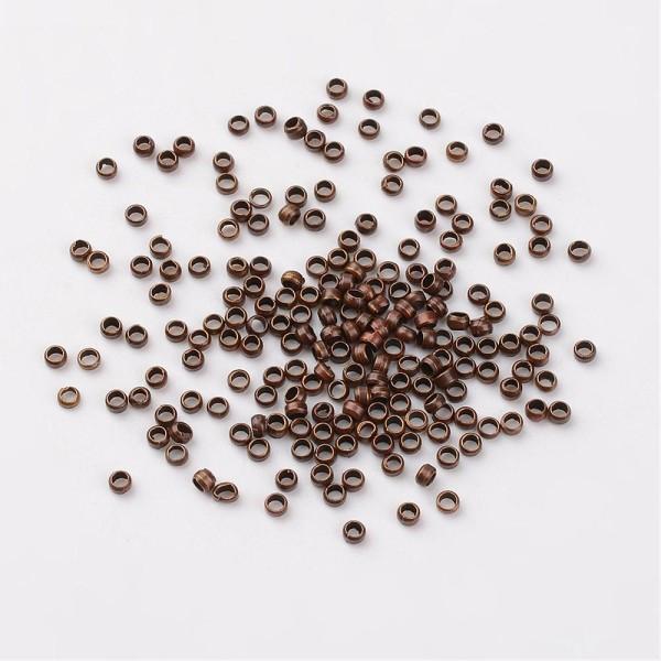 Perles à écraser 2 mm cuivre rouge x 100 - Photo n°1