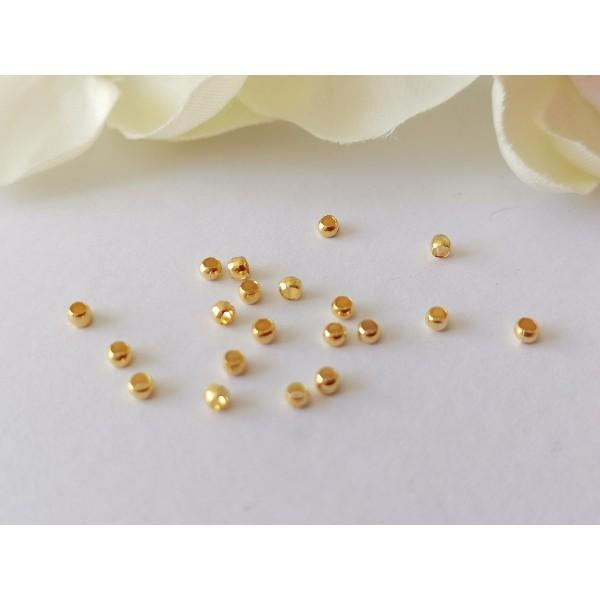 Perles à écraser 2 mm doré x 100 - Photo n°2