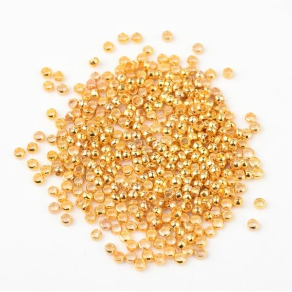 Perles à écraser 2 mm doré x 100 - Photo n°1