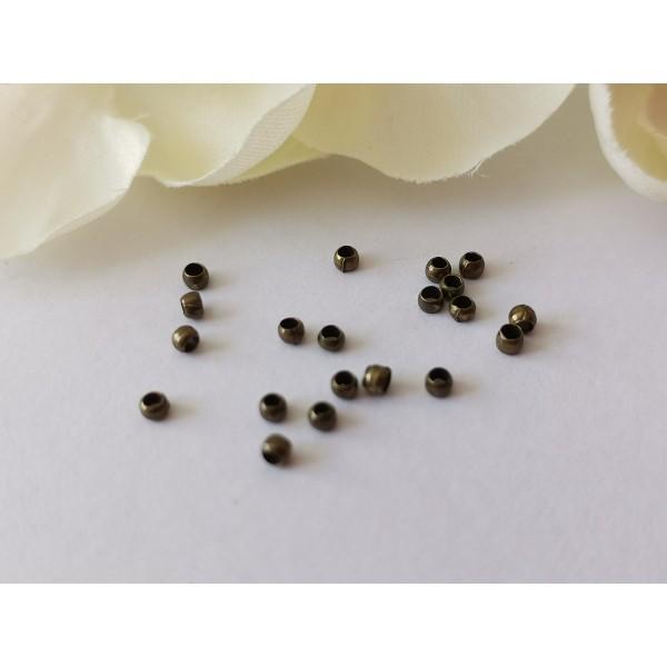 Perles à écraser 2 mm bronze x 100 - Photo n°2