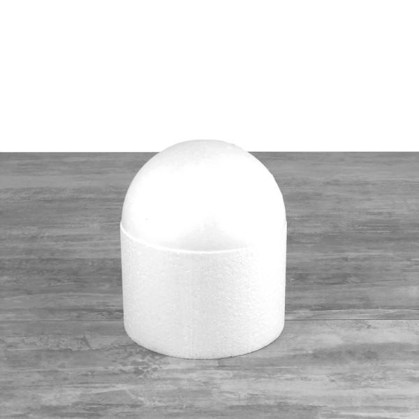 Dôme en polystyrène, base Ø 15 cm, haut. 17.5cm, Cage à oiseaux en Styropor blanc densité Pro - Photo n°1