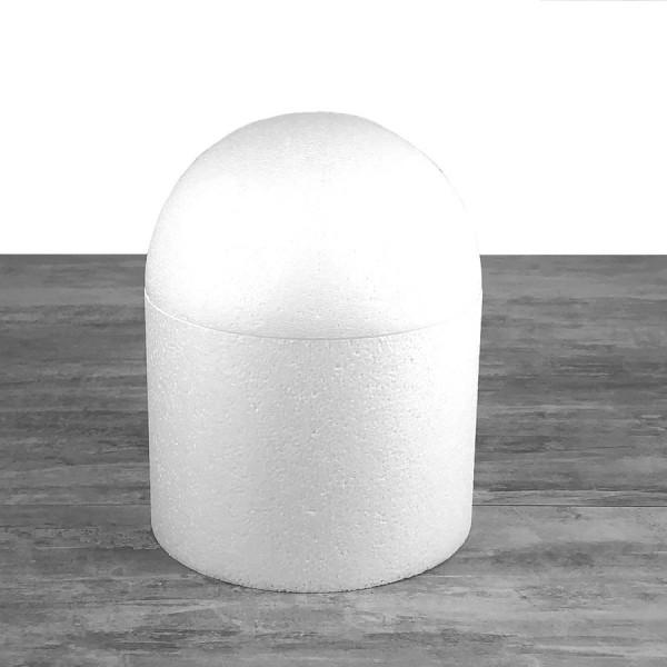 Dôme en polystyrène, base Ø 20 cm, haut. 25cm, Cage à oiseaux en Styropor blanc densité Pro - Photo n°1
