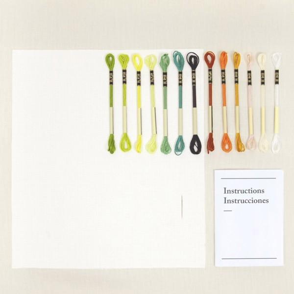 Kit DIY Broderie Mindful DMC - Chemin Forestier - 17,5 x 20 cm - Photo n°3