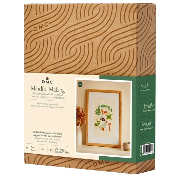 Kit DIY Broderie Mindful DMC - Chemin Forestier - 17,5 x 20 cm - Photo n°1