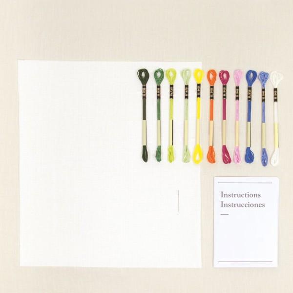 Kit DIY Broderie Mindful DMC - Cueillette Sauvage - 17,5 x 20 cm - Photo n°3