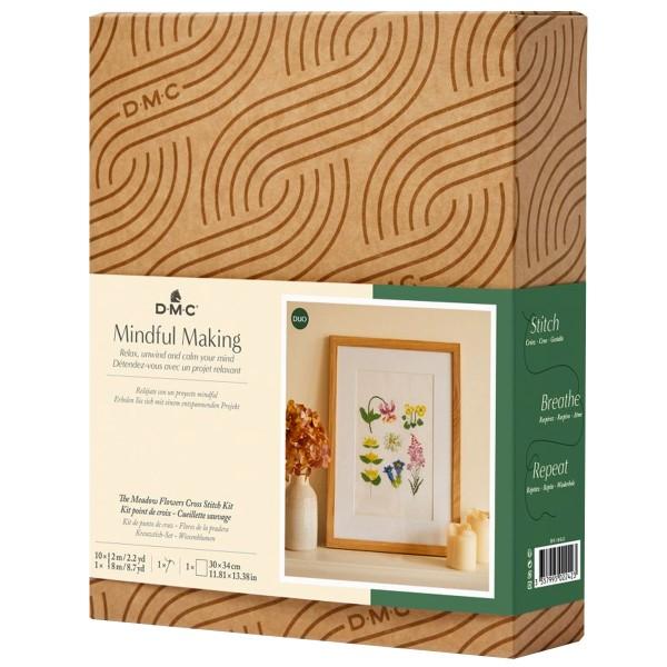 Kit DIY Broderie Mindful DMC - Cueillette Sauvage - 17,5 x 20 cm - Photo n°1