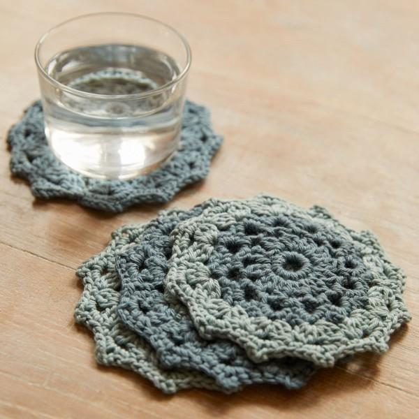Kit DIY Crochet Mindful DMC - Dessous de verre - Ø 12 cm - Photo n°2