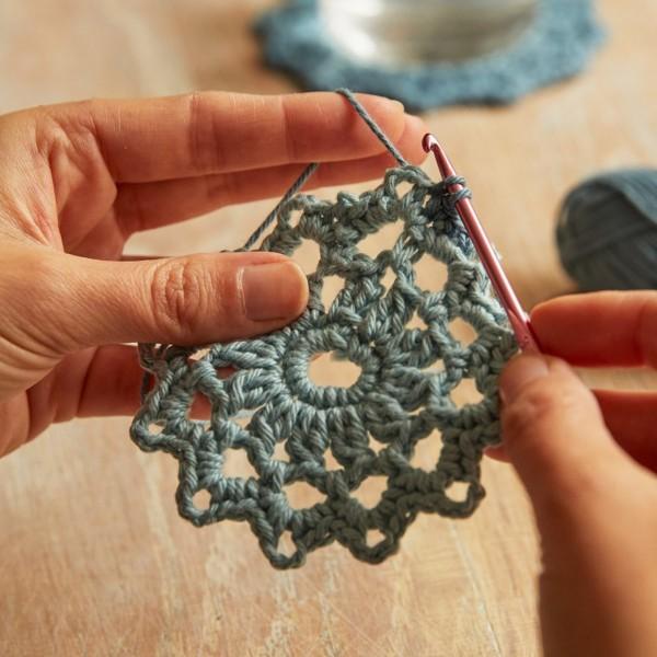 Kit DIY Crochet Mindful DMC - Dessous de verre - Ø 12 cm - Photo n°4