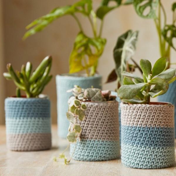 Kit DIY Crochet Mindful DMC - Cache-pots - 7 à 11 cm - Photo n°2