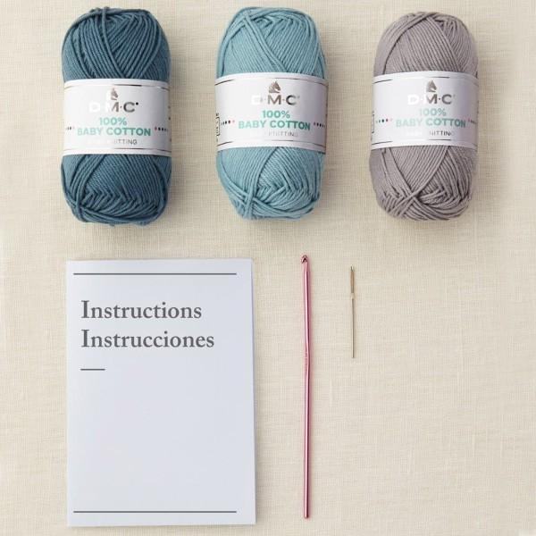 Kit DIY Crochet Mindful DMC - Cache-pots - 7 à 11 cm - Photo n°3
