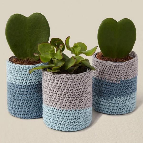Kit DIY Crochet Mindful DMC - Cache-pots - 7 à 11 cm - Photo n°5