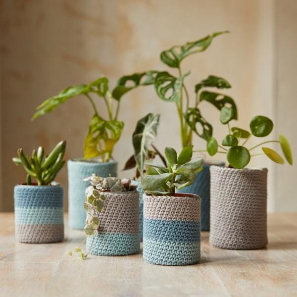Kit DIY Crochet Mindful DMC - Cache-pots - 7 à 11 cm - Photo n°6