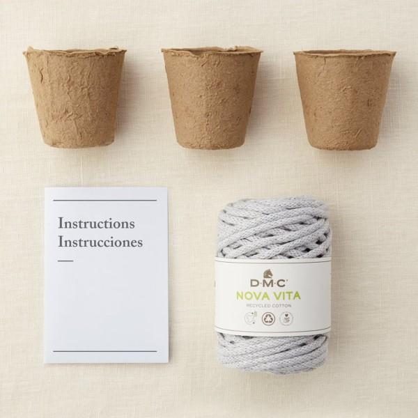 Kit DIY Macramé Mindful DMC - Suspensions plantes - 3 pcs - Photo n°3