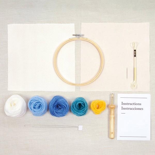 Kit DIY Punch Needle Mindful DMC - Douceur marine - Ø 15 cm - Photo n°3