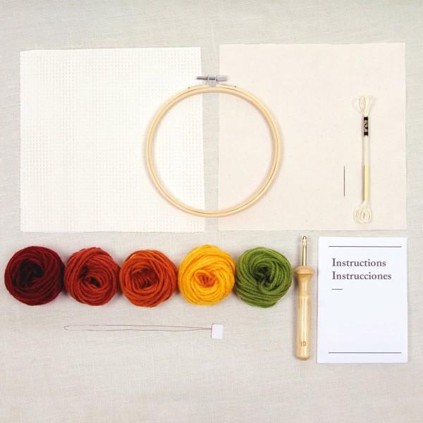 Kit DIY Punch Needle Mindful DMC - Terre de sable - Ø 15 cm - Photo n°3