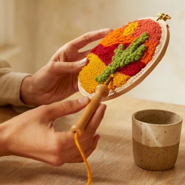 Kit DIY Punch Needle Mindful DMC - Terre de sable - Ø 15 cm - Photo n°5