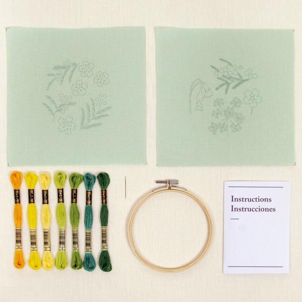 Kit DIY Broderie Duo Mindful DMC - Sous Bois enchanté - Ø 12 cm - 2 pcs - Photo n°3