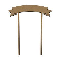 Bannière en bois - Grand Modèle - 11 x 13,5 cm - 1 pce