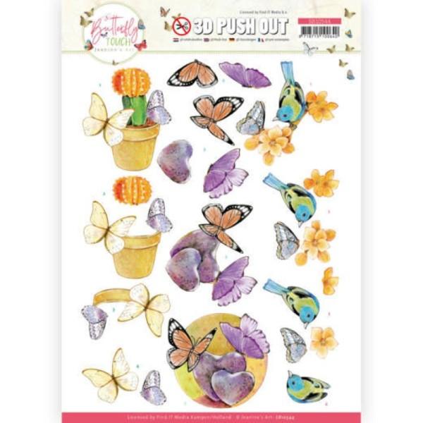 Carte 3D prédéc. - SB10544 - Butterfly touch - Papillons orange - Photo n°1