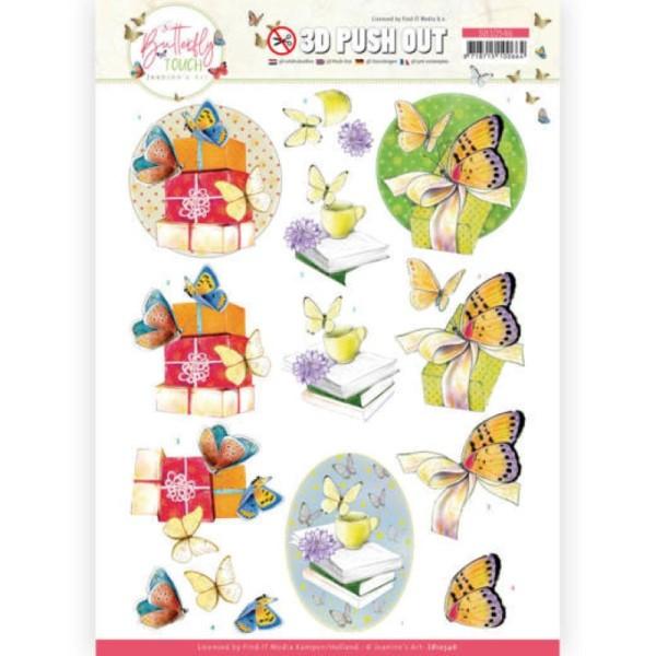 Carte 3D prédéc. - SB10546 - Butterfly touch - Papillons jaunes - Photo n°1