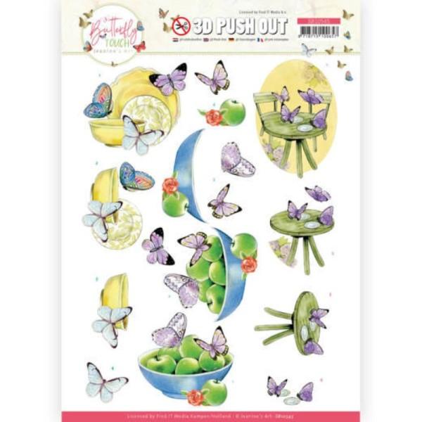 Carte 3D prédéc. - SB10545 - Butterfly touch - Papillons pourpre - Photo n°1