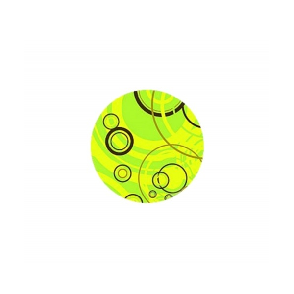 2 Cabochons Verre 20 mm, Cabochon Rond,  Bubbles, Bulles Vertes - Photo n°1