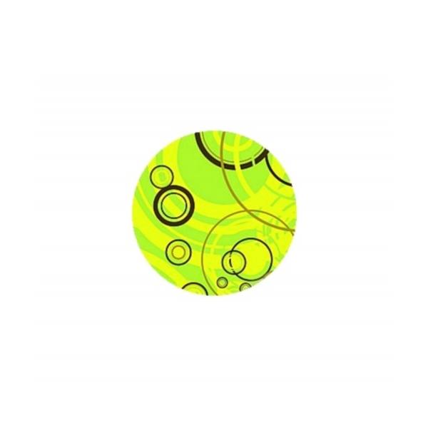 2 Cabochons Verre 14 mm, Cabochon Rond,  Bubbles, Bulles Vertes - Photo n°1