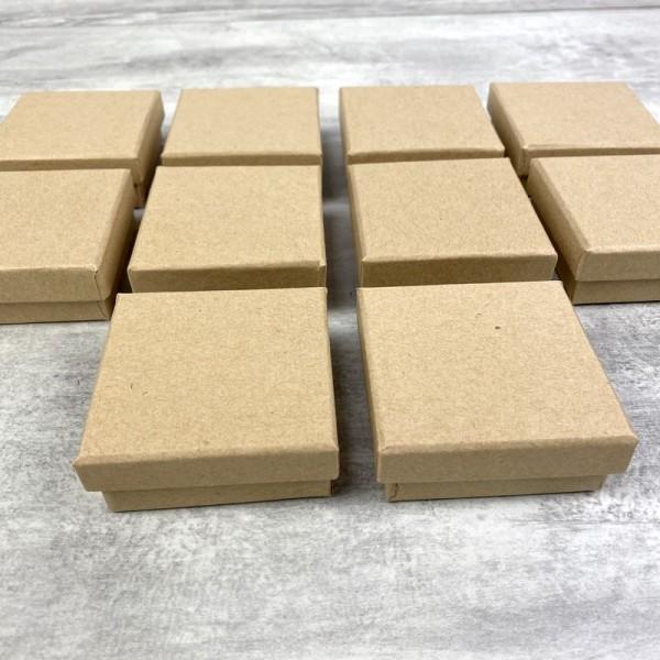 Lot de 10 boites plates carrées en carton, 6,5 cm x h. 2,7 cm, avec couvercle - Photo n°4