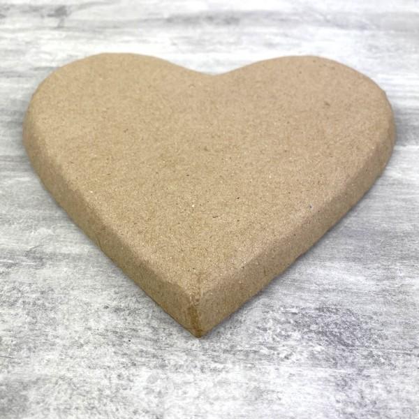 Coeur plat en papier mâché, 20 cm x h. 2 cm, à décorer - Photo n°2