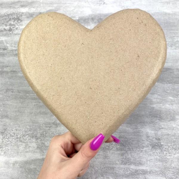 Coeur plat en papier mâché, 20 cm x h. 2 cm, à décorer - Photo n°3